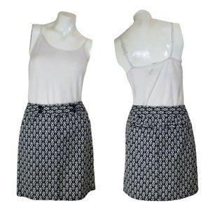 Ann Taylor Cotton Geometric Pencil Skirt w Pockets